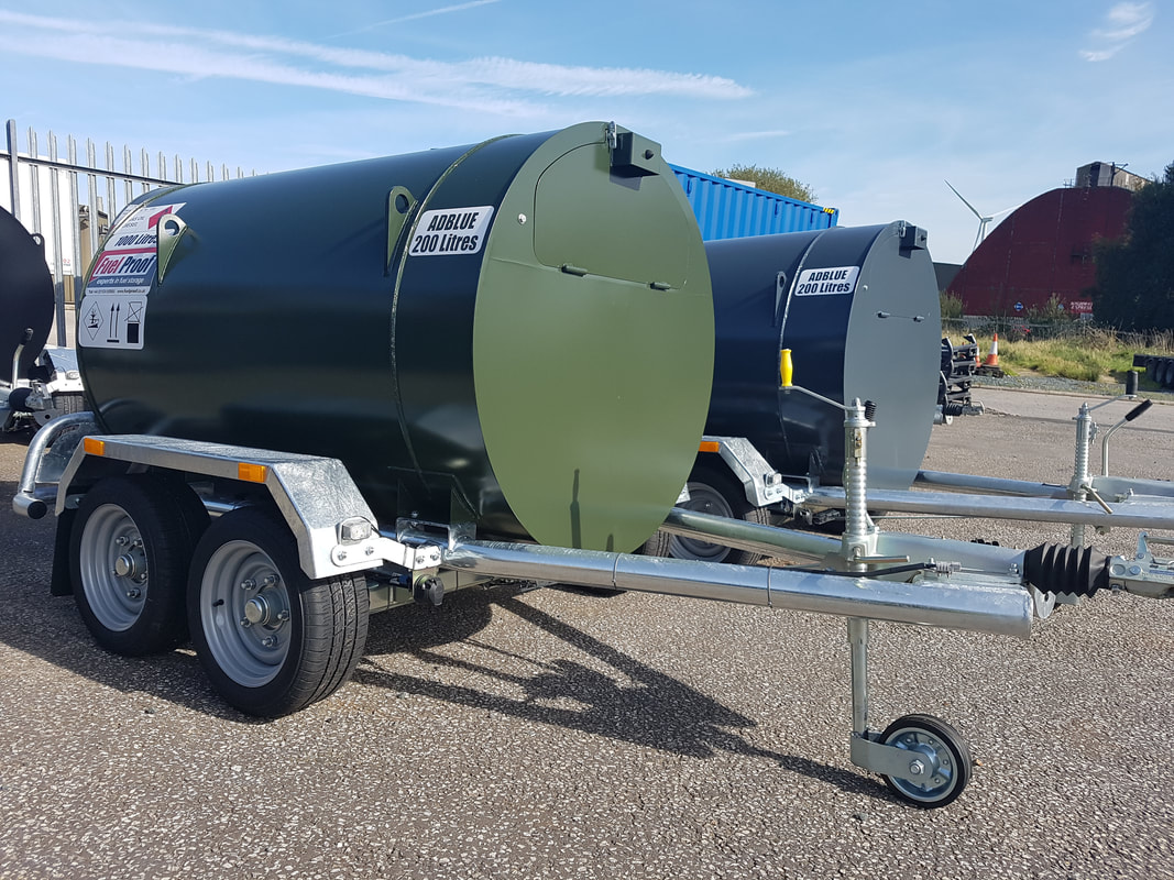 1,000 litre highway twin axle bowser with AdBlue storage