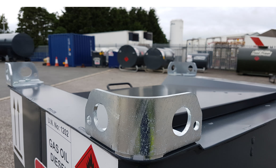 250 litre fuel cube galvanised lifting eyes