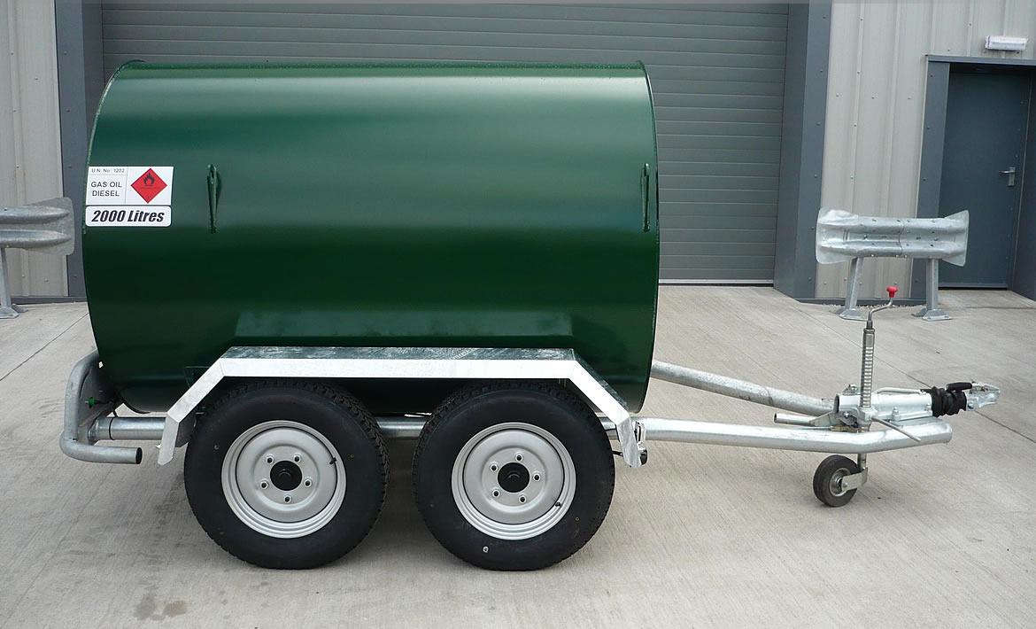 2,000 litre highway twin axle bowser