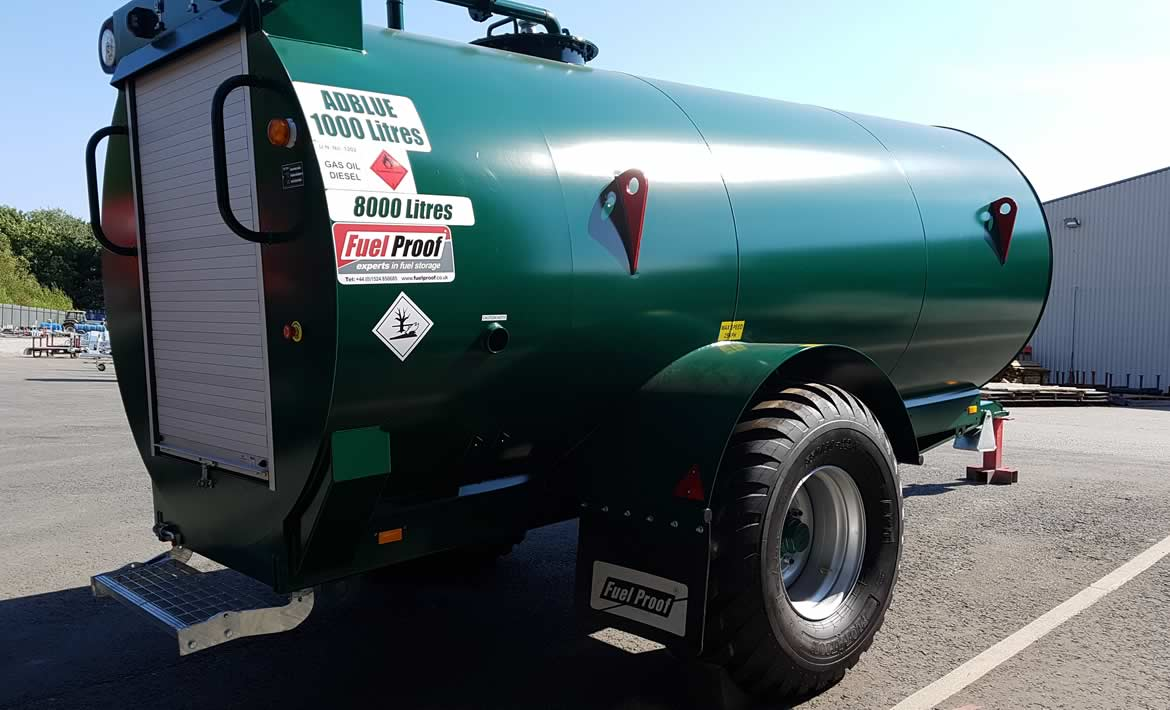 8,000L Site Tow Bowser with 1,000L AdBlue