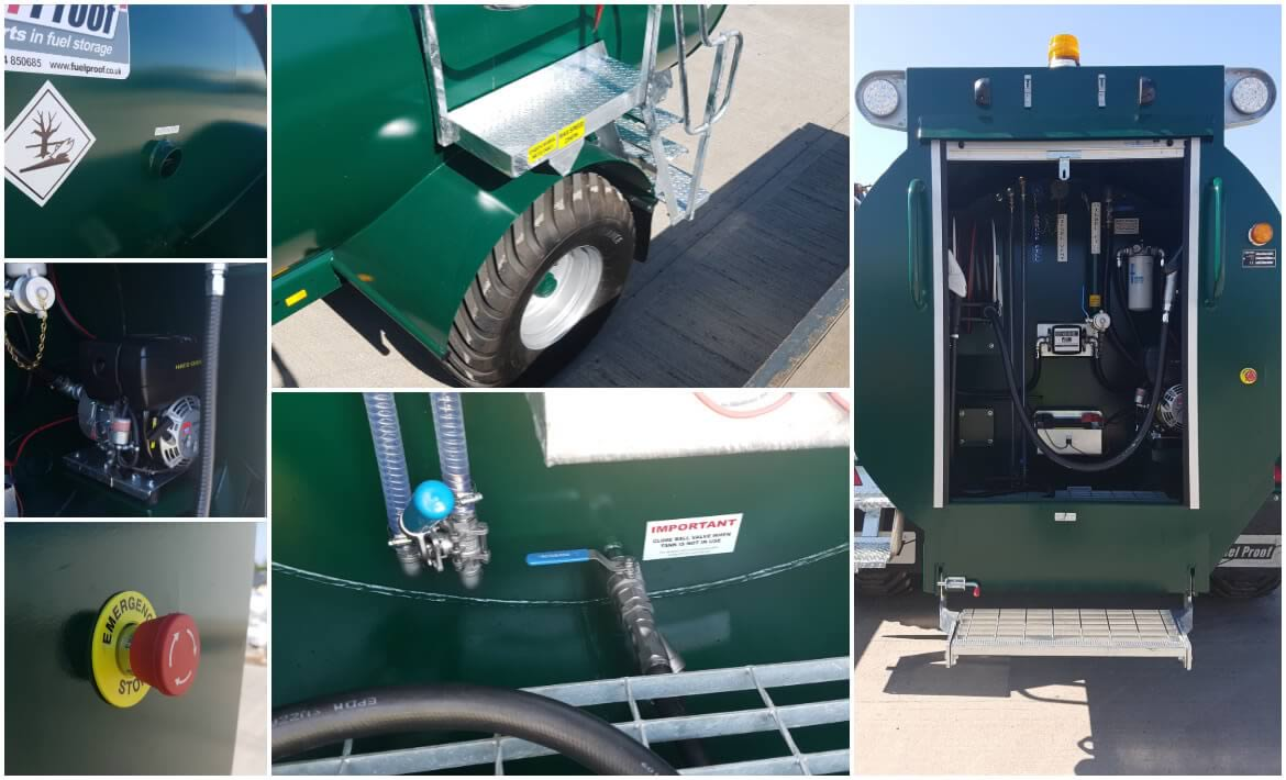 8,000L Site Tow Bowser with 1,000L AdBlue features