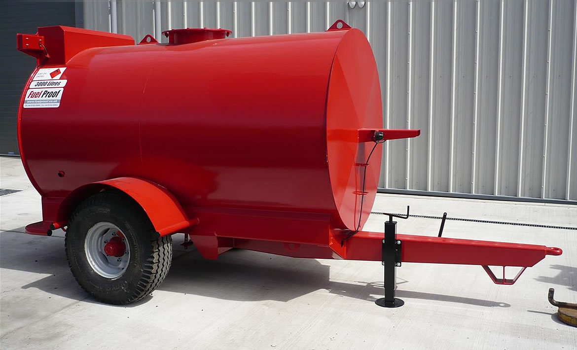 4,500 Litre Site Tow Bowser heavy duty chassis