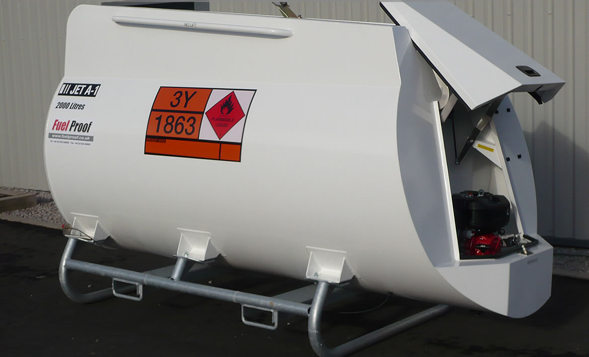 2,000 Litre Static Aviation Fuel Tank